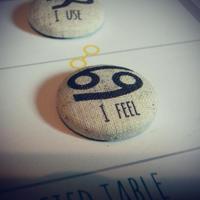 焼き菓子風★ #12サイン理念マグネット 蟹座の理念 I Feel