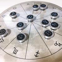 M-021 ホロスコープ台座  満月モデル +箔押しマグネット 感受点付きスペシャルセット