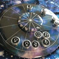 M-001 ホロスコープ台座 回せるサインダイヤル付「だい宇宙モデル」 ※豆惑星マグネットは別売りです