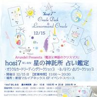 新宿12/15  hosi7 ルノルマン カード入門ワークショップ事前予約 [魔法と神話のクリスマス]