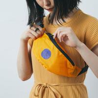 ひとり夜歩き用 ウエストポーチ(オレンジ)