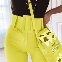 YELLOW★high-waist  sabrina  pants  bot-29