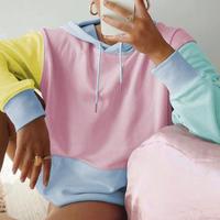 pastel color hoodie♡  top-166