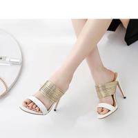 WHITE♡gold arch   sandal  sho-57