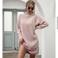 PINK★turtleneck  dress  one-192