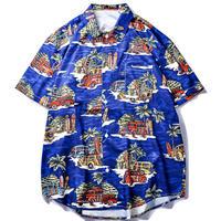 Hawaiian  beach   shirt   top-218
