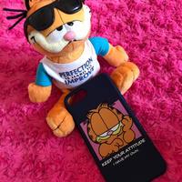 紺色★ガーフィールド iPhoneソフトケース