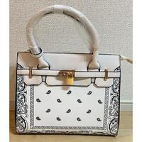 即納★WHITE♡ paisley  bag  bag-26