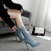 denim  short  boots   sho- 94