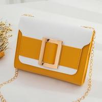 YELLOW♡bi-color golg  belt  bag-11