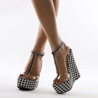 gingham  check♡  sandal  sho-59
