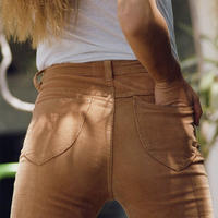 BROWN★bellbottom corduroy  pants  bot-61