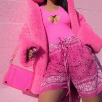 PINK PAISLEY♡half pants  bot-50
