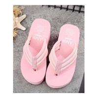 BABY PINK♡6cm  厚底ビーチサンダル  sho-50