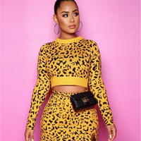 YELLOW♡Leopard♡ two piece  one-53