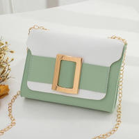 GREEN♡bi-color golg  belt  bag-11
