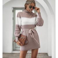 PINK★border dress  one-189
