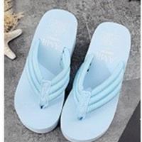 SKY BLUE♡6cm  厚底ビーチサンダル  sho-46