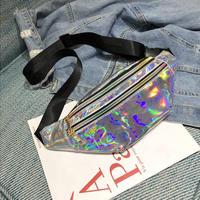 SILVER★メタリックカラー ウエストポーチbag-5