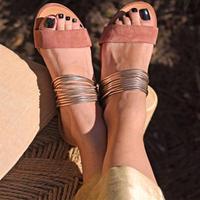 PINK★gold  flat  sandal  sho-18
