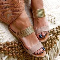 IVORY★gold  flat  sandal  sho-17