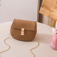 BROWN★gold  chain  shoulder  bag-07