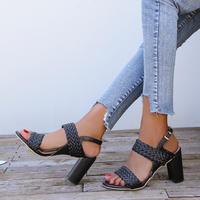 BLACK★braid  chunky heel  sho-22