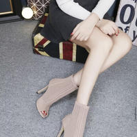 PINK★knit  short  boots  sho-126