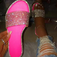 NEON  PINK★lamé flat  sandal  sho-31