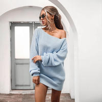 BLUE★knit  dress  one-187