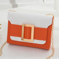 ORANGE♡bi-color golg  belt  bag-11