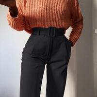 BLACK★high-waist  sabrina  pants  bot-28