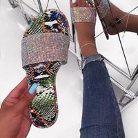 Python柄★lamé flat  sandal  sho-34