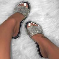 BLACK★lamé flat  sandal  sho-33