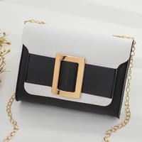 BLACK♡bi-color golg  belt  bag-11