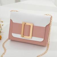 PINK♡bi-color golg  belt  bag-11