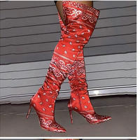RED★paisley  kneehigh boots sho-129