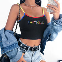 BLACK★emotional  colorful camisole   top-146