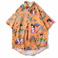 ORANGE★frida  kahlo   shirt   top-198