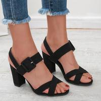 BLACK★simple  belt  sandal  sho-26