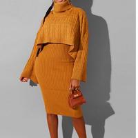 YELLOW★turtleneck  knit  dress   one-150