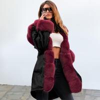 BLACK×RED★fake fur coat  jac-08