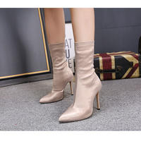 IVORY★simple  short  boots   sho- 92