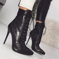 BLACK★ python  short  boots  sho-124
