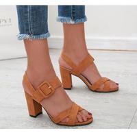 BROWN★simple  belt  sandal  sho-25