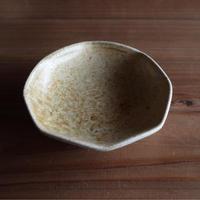 灰釉 八角豆皿