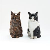QUAIL Ceramics ソルト&ペッパー(黒ブチ&キジトラ)