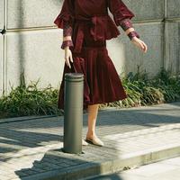 velour petal skirt