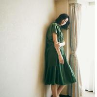 velour petal dress