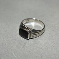 Black Onyx Ring Signed ND